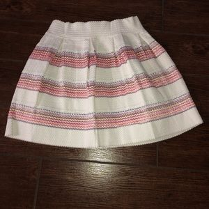 Peach & White Skirt